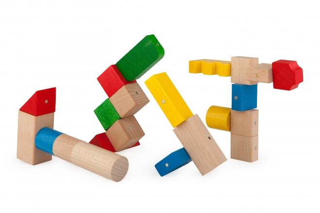 Wiecej drewnianych klocków Kooglo basic color - więcej możliwości