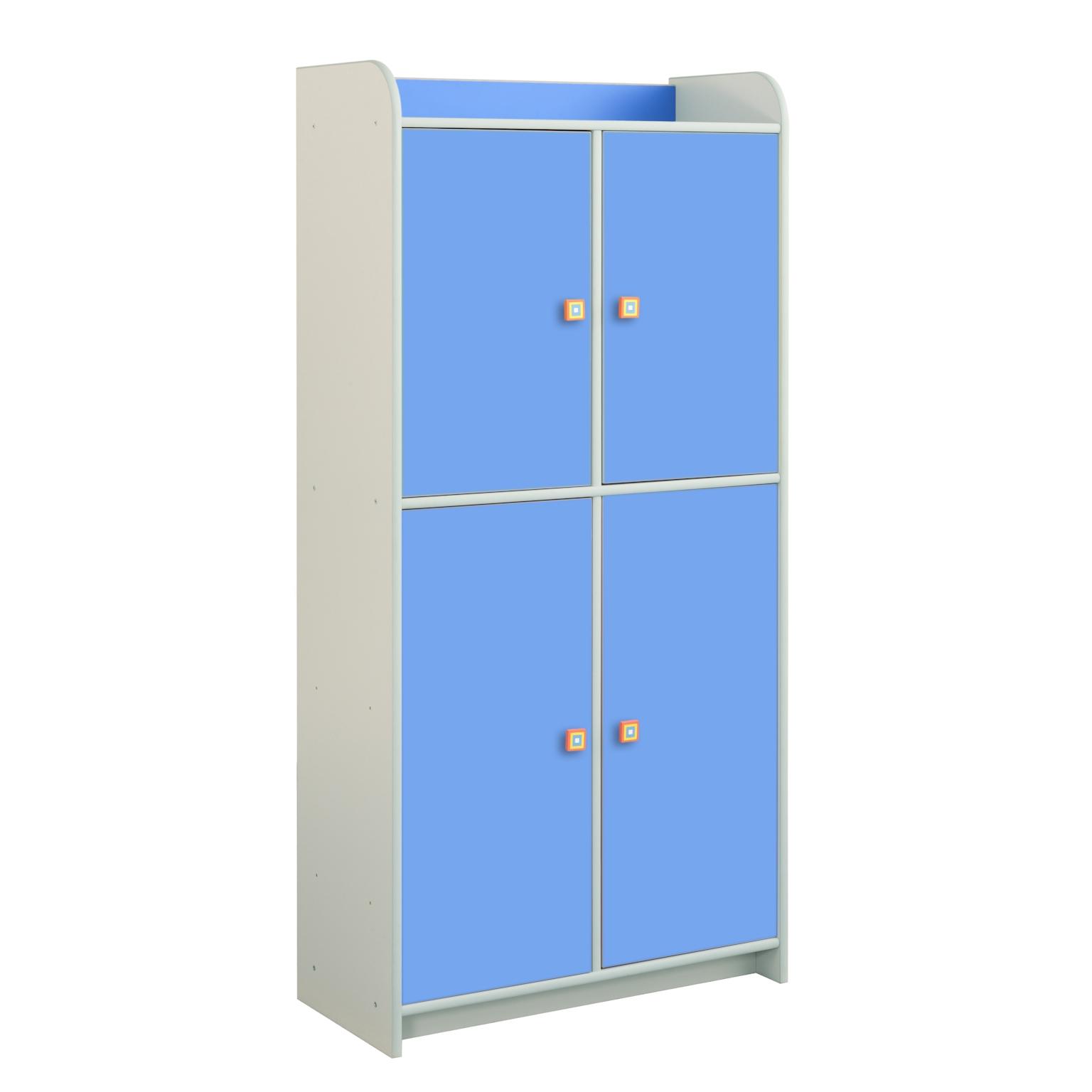 Regał Dioralino z 4 drzwiczkami R5S23 B - niebieski