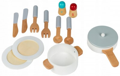 Skład zestawu kuchnia dreniana dla młodego kucharza