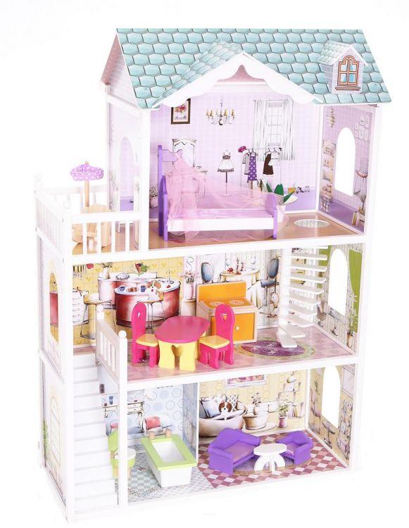 Drewniany domek dla lalek rezydencja Beverly Hills Ecotoys