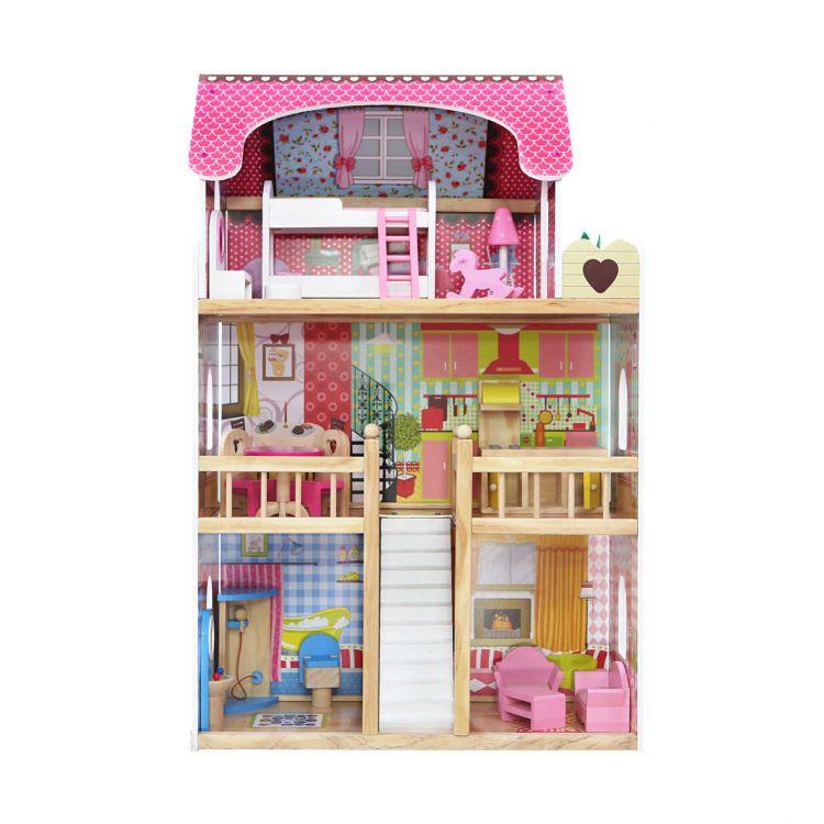 Front drewnianego domku dla lalek Ecotoys