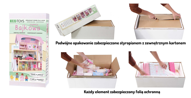 informacja o pakowaniu rezydencja bajkowa ecotoys