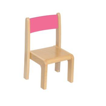 Różowe krzesełko bukowe dla dzieci rozmiar 0
