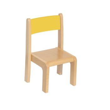 Żółte krzesełko bukowe dla dzieci rozmiar 0