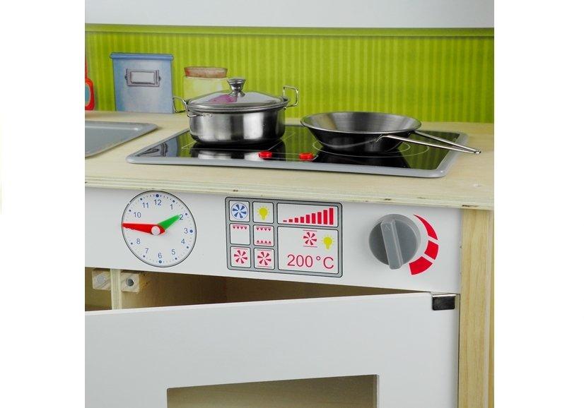 ruchome elementy drewniana kuchnia dla dzieci