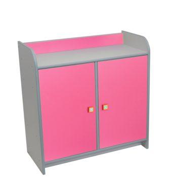 szafka-z-drzwiczkami-różowa
