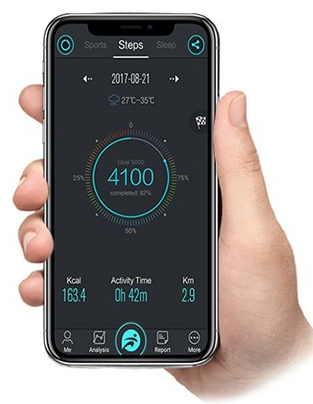 Aplikacja mobilna dla opaski sportowej Mediatech Activeband MT860KR