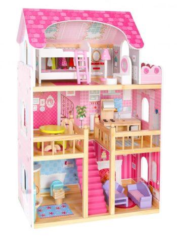 Malinowy domek dla lalek ECOTOYS